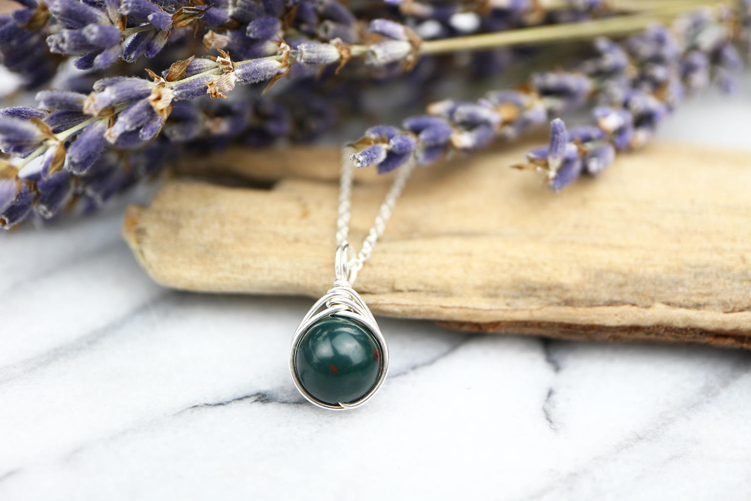Bloodstone necklace 925 wire wrap pendant green gemstone anti bloodstone necklace 925 wire wrap pendant green gemstone anti bullying stone sacrifice courage the ivy bee mozeypictures Images