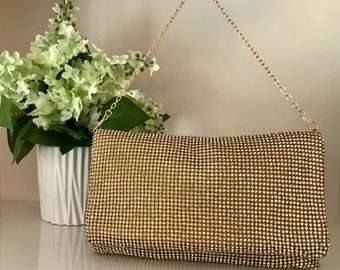 Gold rhinestone bag