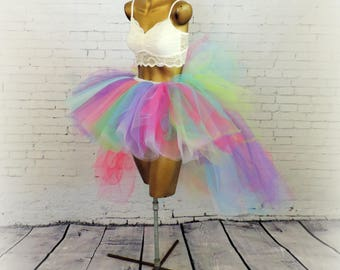 Adult tutu, high low tutu,edc edm rave outfit, neon tutu, 80s tutu, halloween costume womens tutu tutuhot tutu hot