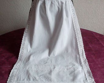 Beautiful maid apron finished by the broderie anglaise