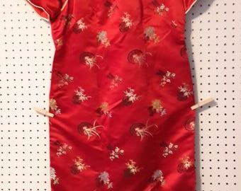 Vintage Satin Cheongsam Chinese  Dress