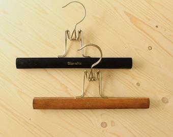 Sipratic hangers / vintage wooden clip hangers / skirt hanger / vintage dressing