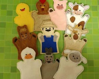 Old McDonald Finger Puppets; Farm Animal Finger Puppets; Farm Finger Puppets