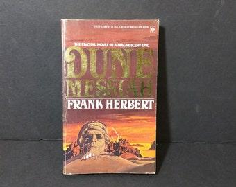 Vintage Dune Messiah Paperback Frank Herbert 1975 Epic Science Fiction Literature