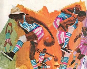 1970 Harlem Globetrotters Basketball Program Meadowlark Lemon Curly Neal