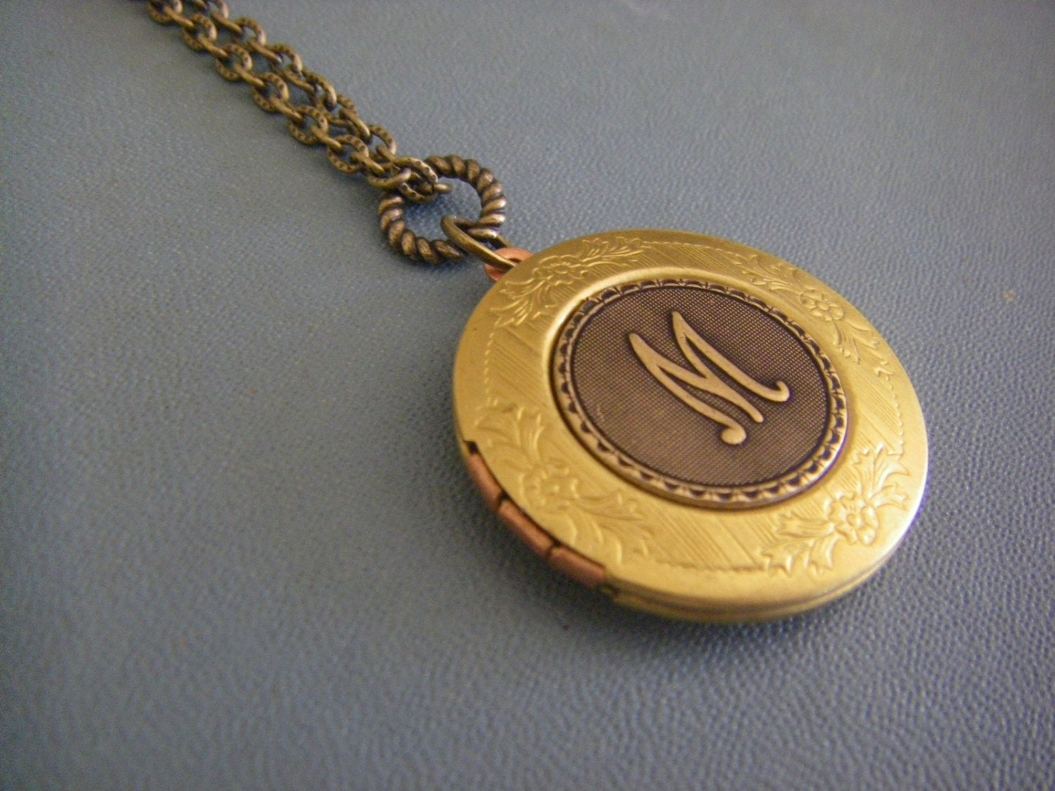 monogram lockets mariamarrese mbl photo holder s by and vintage etsy pin on locket