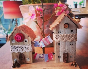 Two quaint little wooden houses - Has been sold but I can make something similar