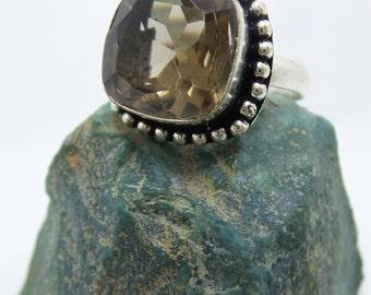 Sale Smokey Quartz Sterling Silver ring, size 6.5