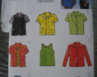 Butterick 9 Fast and Easy Blouse Pattern
