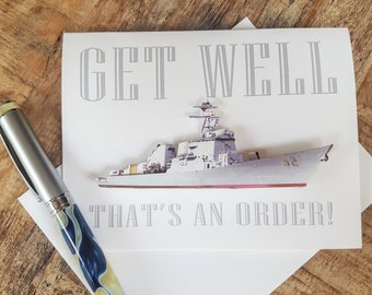 Get Well - Military Style