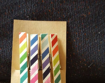 Set of 4 striped magnets