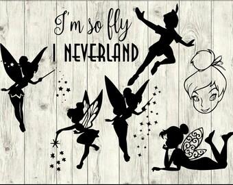 Tinkerbell SVG Bundle, Peter Pan SVG Bundle, Disney cut file, Disney clipart, svg files for silhouette, files for cricut, svg, dxf, eps