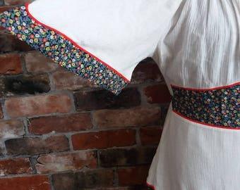 1970s Boho Vintage Summer dress Size 10 UK