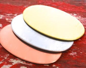 Stamping Blanks Large Oval - 3  debured