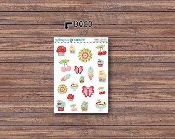 Cherry on Top Deco Stickers | ECLP | Happy Planner | Recollections Planner