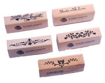 5 Pcs Stamp for  Scrapbooking - Marriage - Baptism - Christmas -