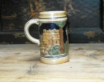 German beer stein/vintage/pottery/Germany