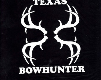 Texas Deer Bowhunter rack car/truck decal sticker - 187-