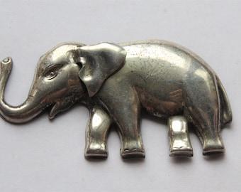 Vintage Sterling Sliver Elephant Pin Brooch