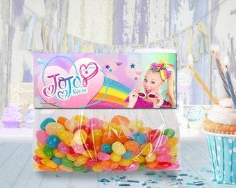 Jojo Siwa favor bag toppers, treat bag topper, party favor, candy bag topper, gift bag topper - PRINTABLE INSTANT DOWNLOAD