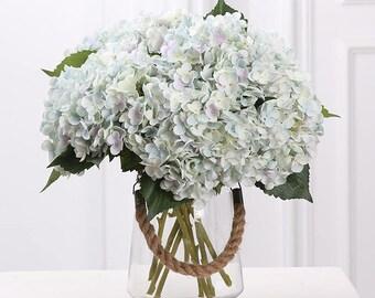 Silk hydrangea etsy more colors faux hydrangea flowers artificial silk hydrangea wedding centerpieces mightylinksfo