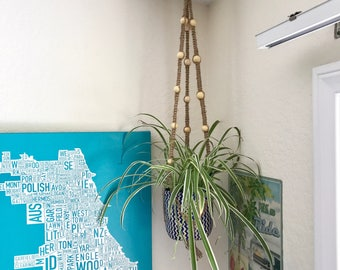 Hanging Beaded Planter