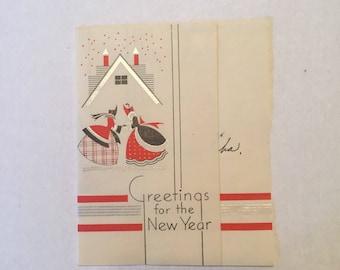 Vintage  Happy New Years Card