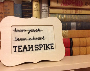 TEAM SPIKE - Buffy the Vampire Slayer cross stitch pattern PDF