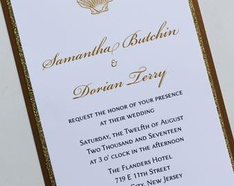 Simply Seashell Wedding Invitation