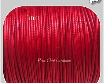 10 M of thread SATIN satin wax 1-1, 5mm red for several * C38