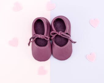 OLD PURPLE || mary jane moccasin