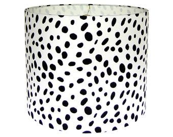 Animal print lamp shade dalmatian lampshade dotted fabric black and white lamp shade animal print lampshade table lampshade lamp shade for floor lamp shade for buffet lamp multiple sizes aloadofball Image collections