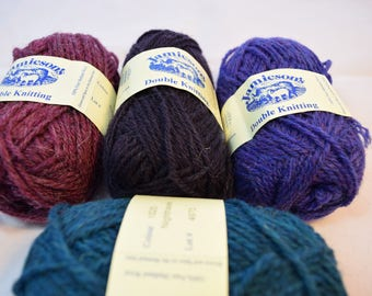 Pure Shetland Wool in 4 colors 25 g each