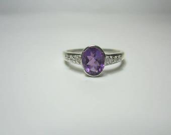 amethyst ring, amethyst silver ring,beautyful ring