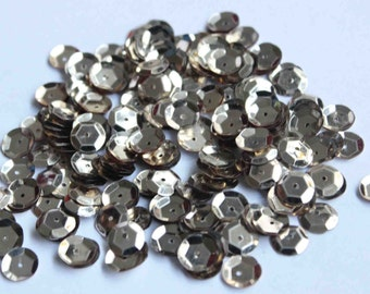 100 Mettalic Silver/3D Round Sequins/KBRS030