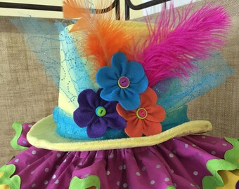 Boutique Style Clown Top Hat