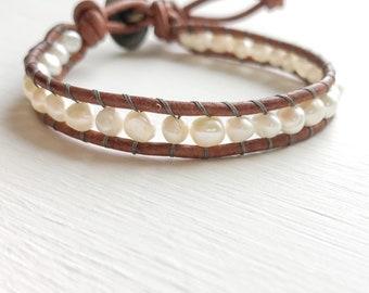 Freshwater Pearl Single Wrap Bracelet