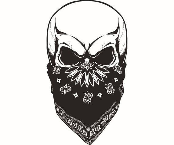 22 Schädel Kopf Bandana Bande Hut Maske Tod Killer Tattoo