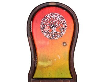 Mystical Sunset Tree Fairy Door for Home and Garden