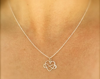 Mom Necklace,  Mother Daughter Jewerly, Heart Infinity Necklace, Together Forever Friends,Bridesmaid Necklace, natashaaloh