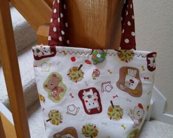 Little Girls Purse, Little Girls Handbag, Puppies & Trees Print Purse, Purses for Little Girls, Tote for Little Girls, Girl Easter Purse