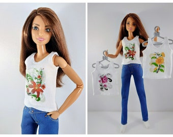 Barbie clothes Barbie Jeans Denim pants for Barbie doll (M2M, Belly Button, regular Fashionista) Slim jeans