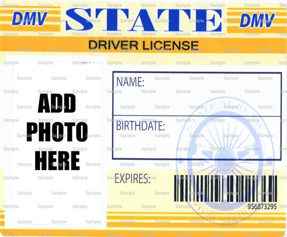 Driver's License Birthday - Edible Cake and Cupcake Photo Frame For Birthdays and Parties! - D4390
