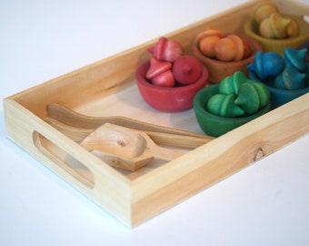 Color Sorting Toy, Montessori Toys, Fine Motor Skills, Colour Sorting Toy, Christmas Gift, Busy Bag, Natural Toy, Wooden Toys, Waldorf toys