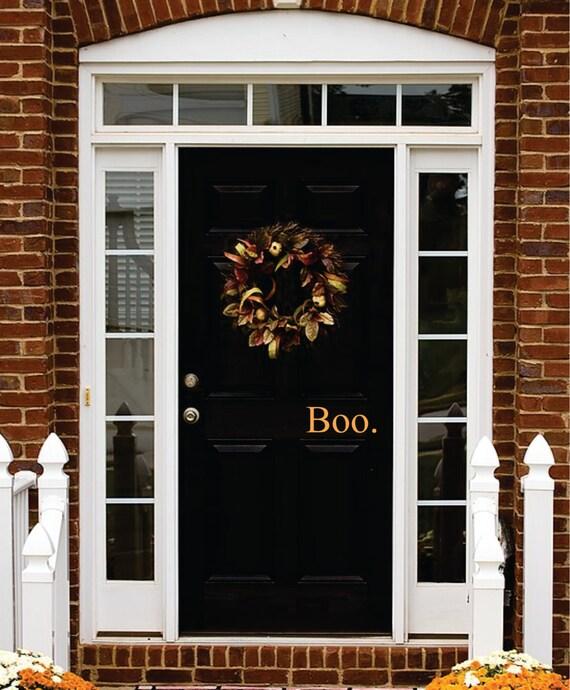 Halloween Decal Boo Door Decal Halloween Decor Vinyl Decal