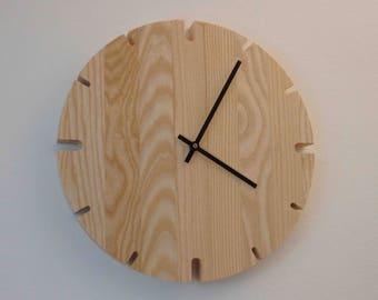 Wall Clock wooden large 60 cm, wall clock large, wall clock XXL