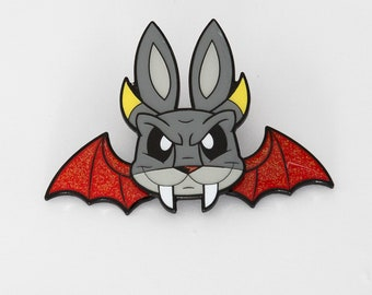 Demon Bunny pin