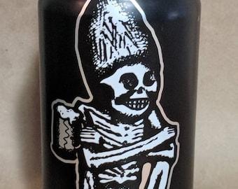 Skeleton Beer Can Candle   Mango Papaya Scented