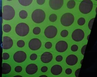 Car Trash bag - brown polka dots on green