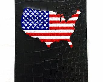 Go to caddie yardage book course management system by gotocaddie embroidered usa north america yardage book holder black solutioingenieria Gallery